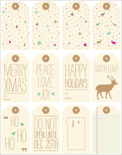 printable gift tags - love vs design