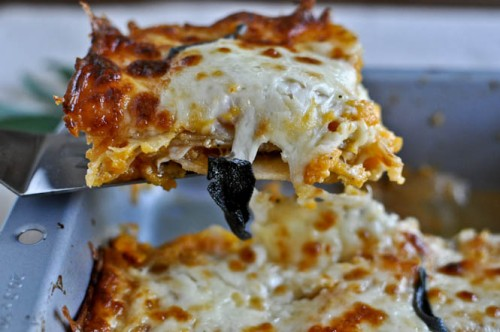 roasted butternut squash and sweet potato lasagna - how sweet it is