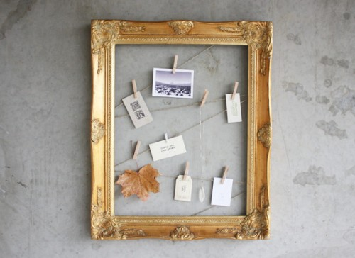 clothespin frame _ morning creativity
