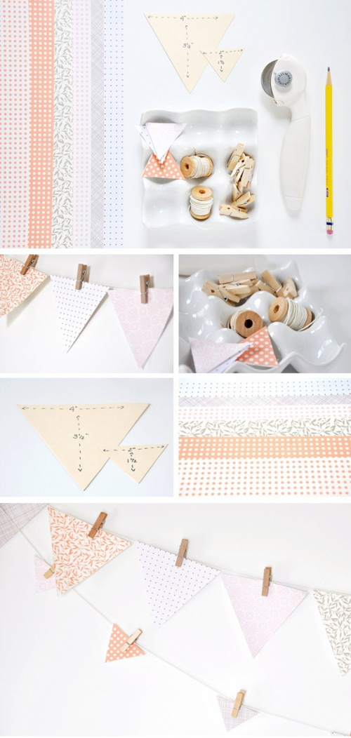 paper bunting with clothespins_oh crafts